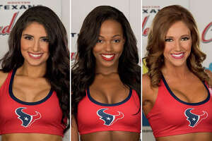 Danielle C., Adriana S. and Olivia W.are finalists for the 2017 Houston Texans cheerleader squad.