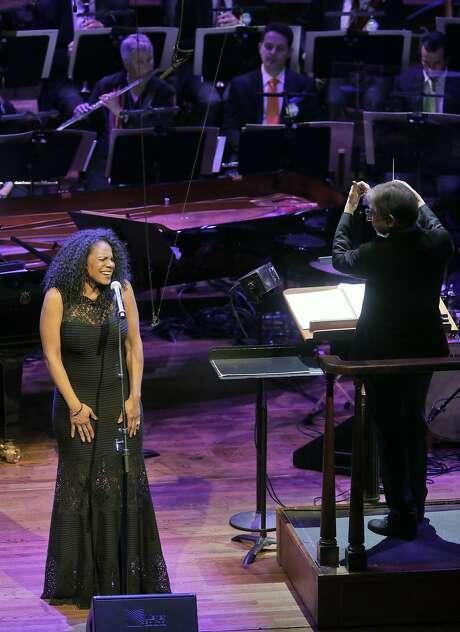 Audra McDonald and Michael Tilson Thomas in Symphony Pride concert Photo: Corey Weaver, San Francisco Symphony