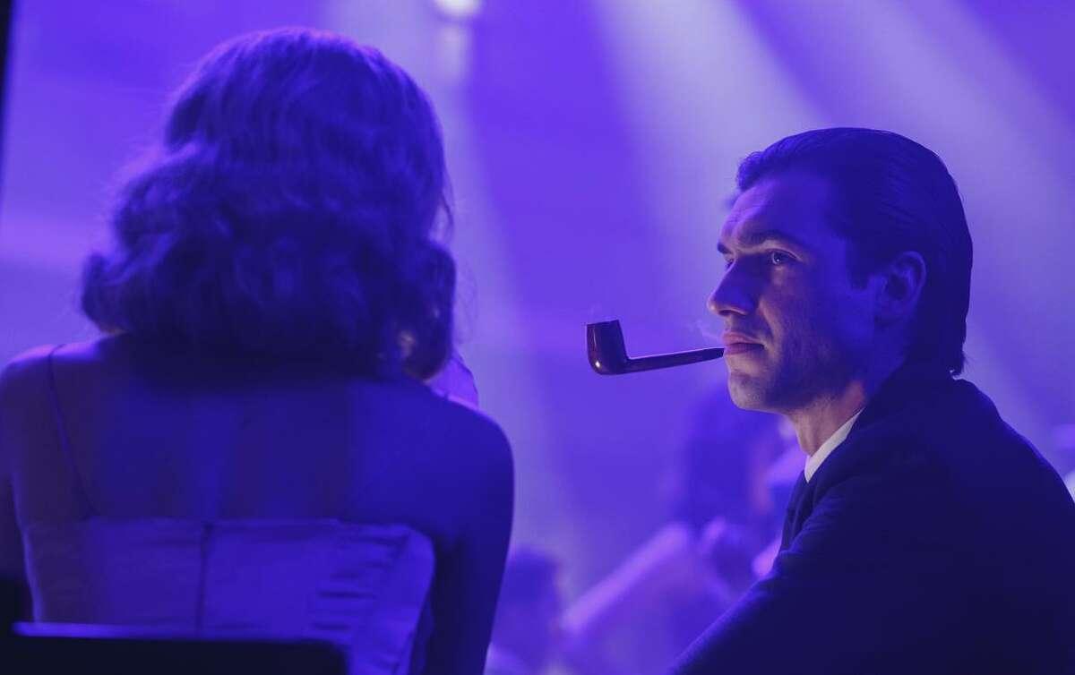 "Matt Whelan plays Hugh Hefner in a dramatization in ""American Playboy."""