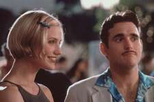 "THERE'S SOMETHING ABOUT MARY - Cameron Diaz, Matt Dillon.  HOUCHRON CAPTION (07/15/1998) (09/03/1998): Cameron Diaz and Matt Dillon star in ""There's Something About Mary.""       HOUCHRON CAPTION (09/13/1998): Cameron Diaz and Matt Dillon, shown in this photo from their hit movie,""There's Something About Mary,"" reportedly have gone their separate ways after a three-year relationship. HOUCHRON CAPTION (12/23/1998): At the end of ""There's Something About Mary,"" Cameron Diaz and Matt Dillon appear in several outtakes.   HOUCHRON CAPTION (08/22/1999):  Cameron Diaz was a wimpette in last summer's hit ``Something About Mary""."