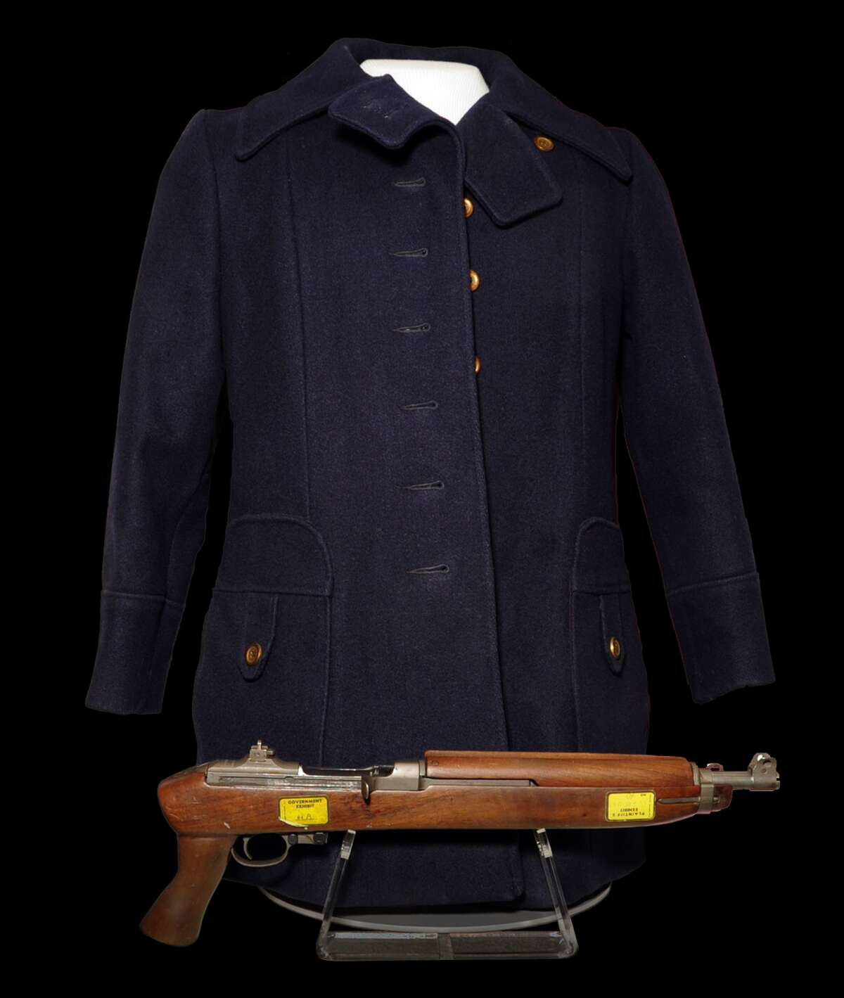 Patty Hearst Coat and Weapon The coat worn and gun brandished by heiress Patty Hearst during the infamous SLA bank robbery she was photographed at.