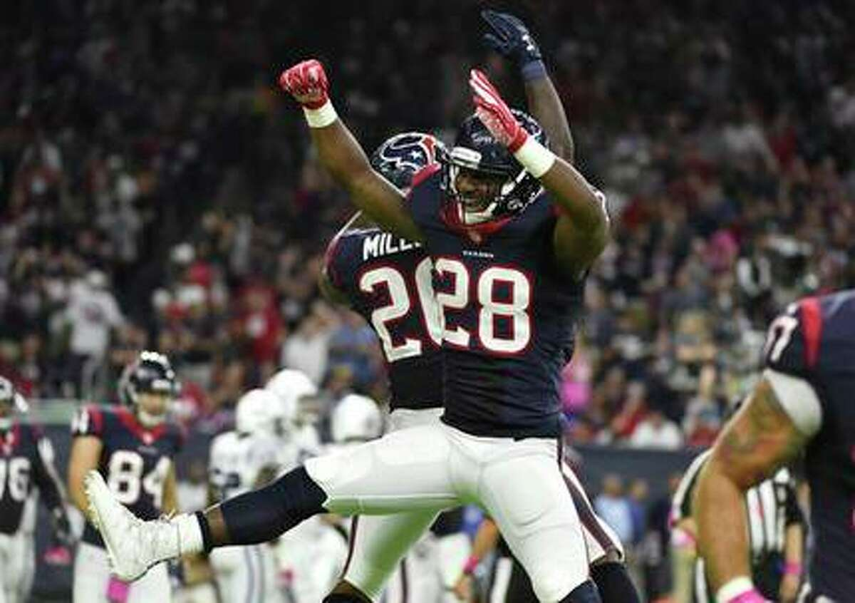 TEXANS' THREE KEYS TO VICTORY 2. The Texans have to develop a running game that can consistently control the ball with Lamar Miller and Alfred Blue.
