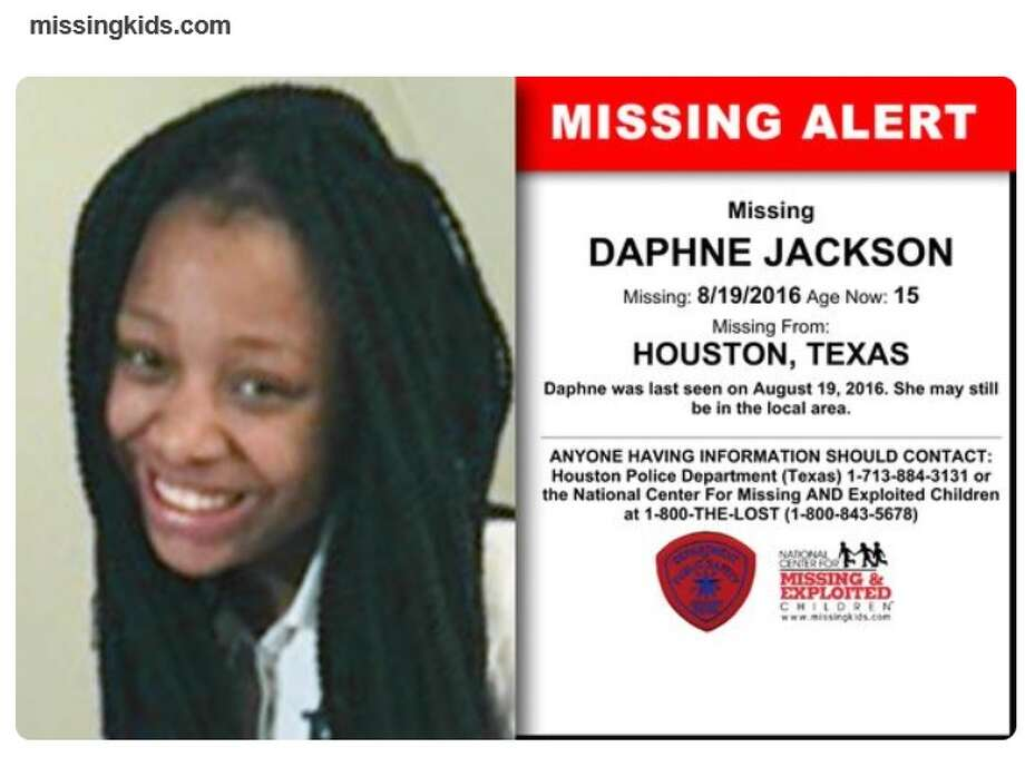 Daphne Jackson, 15, who was struck and killed by a van in northwest Harris County on April 2, 2017 after escaping CPS care, had been listed as a missing child in 2016. Photo: File