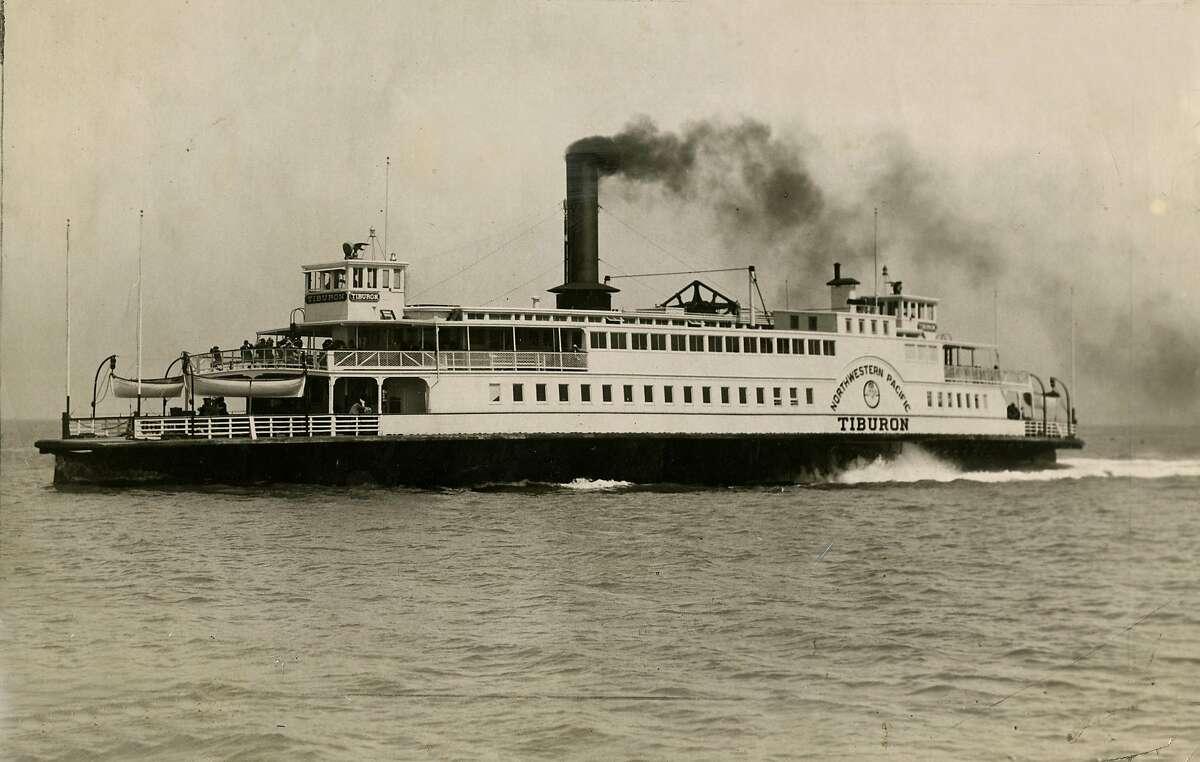 Tiburon ferry. September 1, 1964