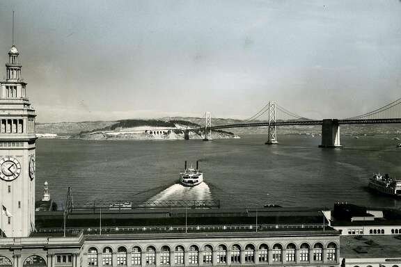 Ferry leaving San Francisco. July 27, 1958