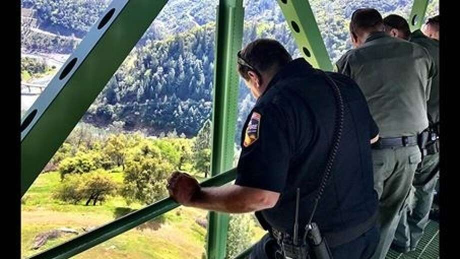 A woman fell off a bridge near Auburn on Tuesday while taking a selfie, according to the Placer County Sheriff's Office. Photo: Placer County Sheriff's Office