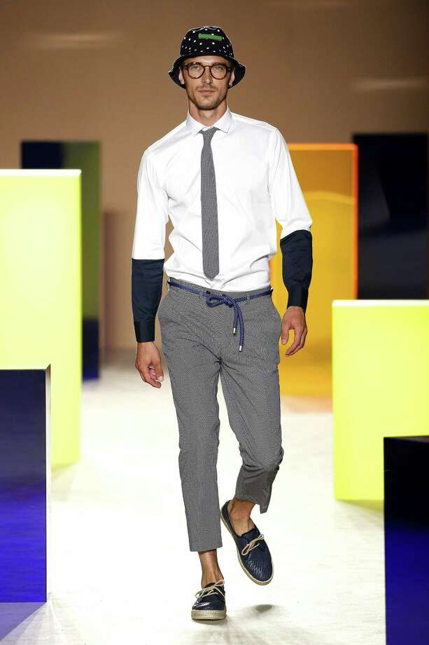 Men's glasses complete the look at the Alberto Villagrasa show during Barcelona Fashion Week Spring/Summer 2017. Photo: Estrop / Getty Images / 2016 Estrop