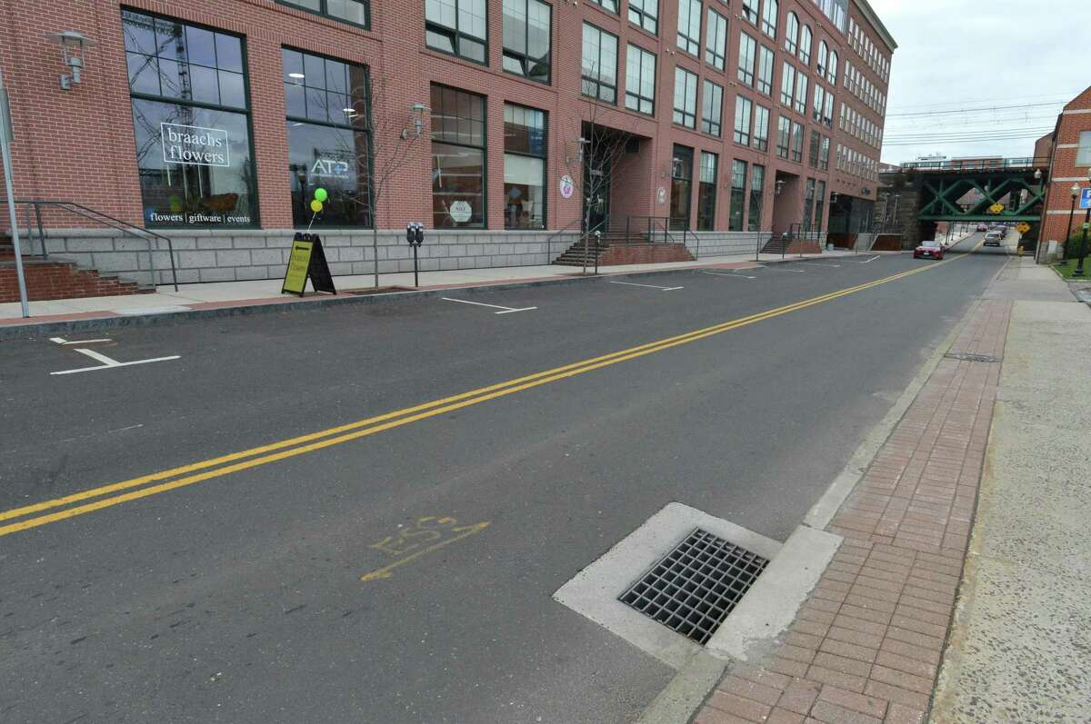 North Water street between Washington St. and Marshall St. that was paved by Grasso Companies LLC in the summer of 2014, on Wednesday April 45, 2017 in Norwalk Conn.