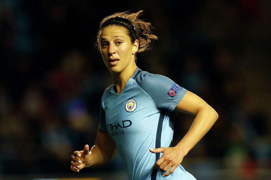 Carli Lloyd, on a short-term stint with Manchester City, wouldn't be available to rejoin the Dash until June if the English club makes the Champions League final. Photo: Martin Rickett, SUB / PA Wire
