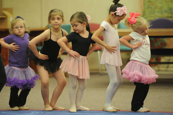Midland Festival Ballet's spring break Cinderella Ballet Camp for kids ages four through six, photographed March 15, 2017, at Midland County Public Library downtown branch. James Durbin/Reporter-Telegram