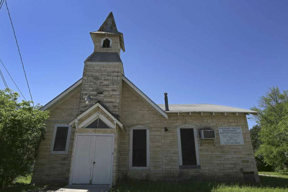 Pleasant Grove Missionary Baptist Church at 1516 Burnet St. is seen in a April 5, 2017 photograph taken with a pinhole lens. Originally known as New Hope Baptist Church, the congregation holds services in a building that has been modified but whose construction is believed to date to the 1800s, making it one of the oldest on the East Side. Photo: William Luther, Staff / San Antonio Express-News / © 2017 San Antonio Express-News