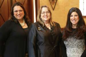 In January, the San Antonio Board of Realtors swore in Michele Bunting Ross, center, as chairwoman, and Yvette Allen, right, as chair-elect. Lorena Peña, SABOR's secretary and treasurer, is on the left.