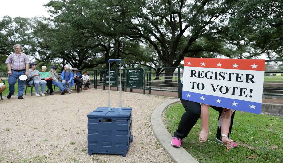 Today is the last day that voters can register for Pasadena's upcoming races for mayor and City Council. Early voting runs from Monday, April 24 to Tuesday, May 2. Election Day is Saturday, May 6.  ( Melissa Phillip / Houston Chronicle ) Photo: Melissa Phillip, Staff / Houston Chronicle 2017