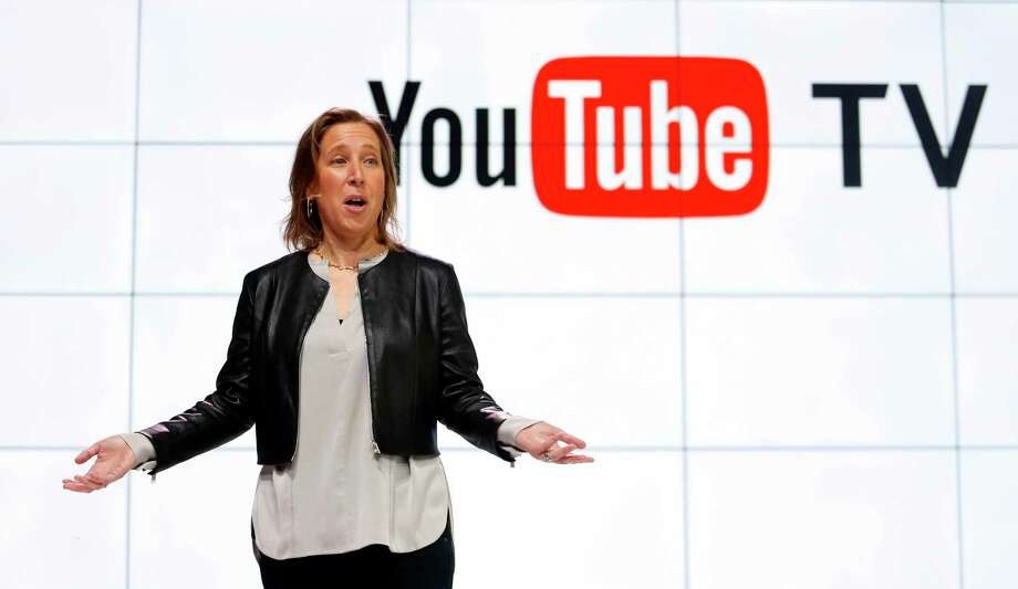 FILE - In this Tuesday, Feb. 28, 2017, file photo, YouTube CEO Susan Wojicki speaks during the introduction of YouTube TV at YouTube Space LA in Los Angeles. Google's online package of about 40 television channels debuts on Wednesday, April 5, 2017, in the tech industry's latest bid to get cable-shunning millennials to pay for television. (AP Photo/Reed Saxon, File) Photo: Reed Saxon, STF / Copyright 2017 The Associated Press. All rights reserved. This material may not be published, broadcast, rewritten or redistribu