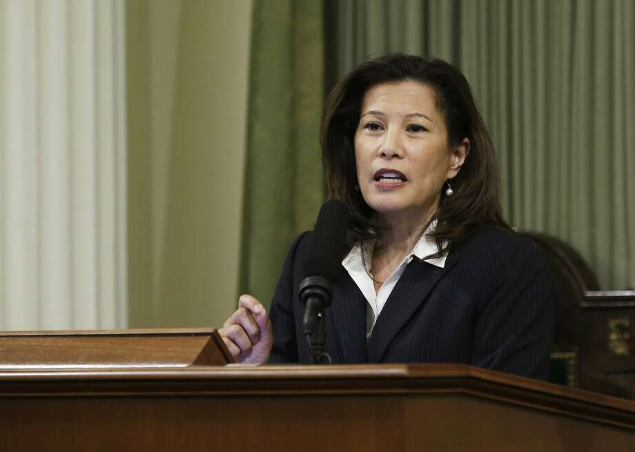 "On Tuesday, April 4, 2017, 12 California prosecutors came out in support of state Supreme Court Chief Justice Tani G. Cantil-Sakauye, who in a letter in mid-March sent a letter to Attorney General Jeff Sessions and Homeland Security Secretary John Kelly protesting what she called the ""stalking"" of courthouses. Sessions and Kelly sent a letter to Cantil-Sakauye, pictured here, saying state and local policies that bar police from turning over suspects for deportation have compelled federal agents to make arrests at courthouses and other public places. (AP Photo/Rich Pedroncelli, File) Photo: Rich Pedroncelli, Associated Press"