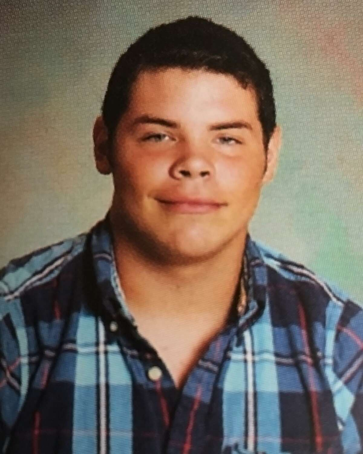 Jack Young, a photo from the Leakey High School yearbook. Young was the driver of a pickup truck which was in a head-on collision with a van resulting in deaths of 13 people.