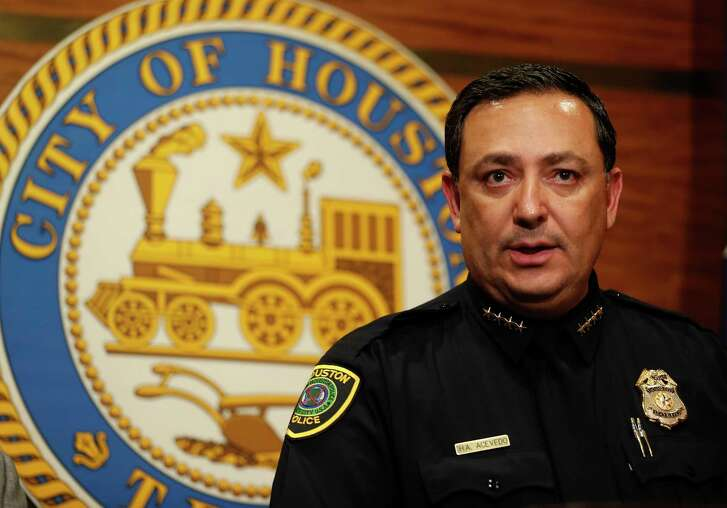 Houston Mayor Sylvester Turner and Police Chief Art Acevedo announce an arrest in the shooting death of 8-year-old, DeMaree Atkins, Wednesday, March 1, 2017, at City Hall.  Atkins was shot to death after her mother, Latoyia Thomas was involved in a car accident with another vehicle, Saturday. ( Karen Warren / Houston Chronicle )