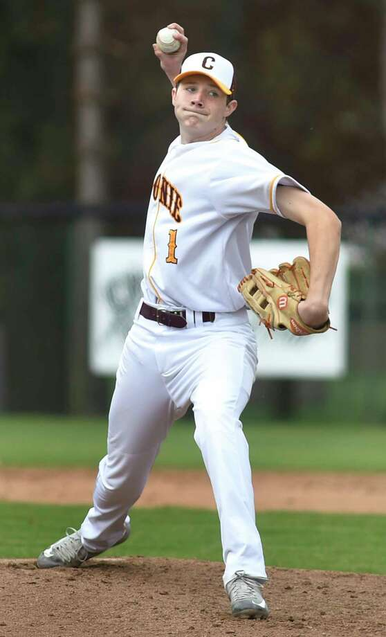 Colonie pitcher Ryan Lambert winds up the pitch during their baseball game against Shenendehowa on Saturday, May 7, 2016, at Cook Park in Colonie, N.Y. (Cindy Schultz / Times Union) Photo: Cindy Schultz / Albany Times Union