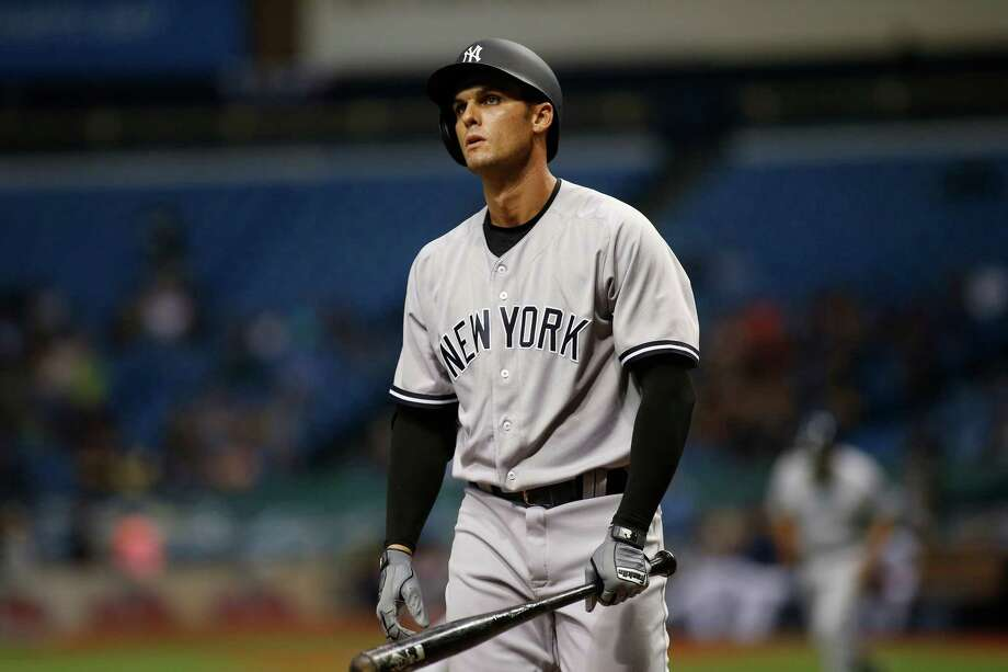 ST. PETERSBURG, FL - APRIL 5:  Greg Bird #33 of the New York Yankees reacts after striking out swinging to pitcher Alex Cobb of the Tampa Bay Rays during the first inning of a game on April 5, 2017 at Tropicana Field in St. Petersburg, Florida. (Photo by Brian Blanco/Getty Images) ORG XMIT: 700010249 Photo: Brian Blanco / 2017 Getty Images