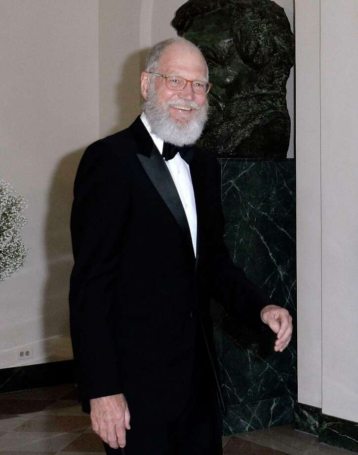 Comedian David Letterman arrives at the state dinner in honor of President of Finland and the Prime Ministers of Norway, Sweden, Denmark and Iceland at the White House in Washington on May 13, 2016. / AFP PHOTO / Olivier DoulieryOLIVIER DOULIERY/AFP/Getty Images Photo: OLIVIER DOULIERY / AFP or licensors