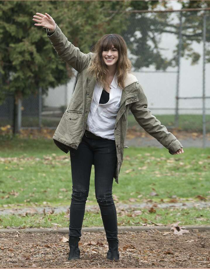 """Anne Hathaway stars in the unusual sci-fi comedy film """"Colossal,"""" which keeps the audience guessing throughout. Photo: Chris Helcermanas-Benge, Associated Press"""