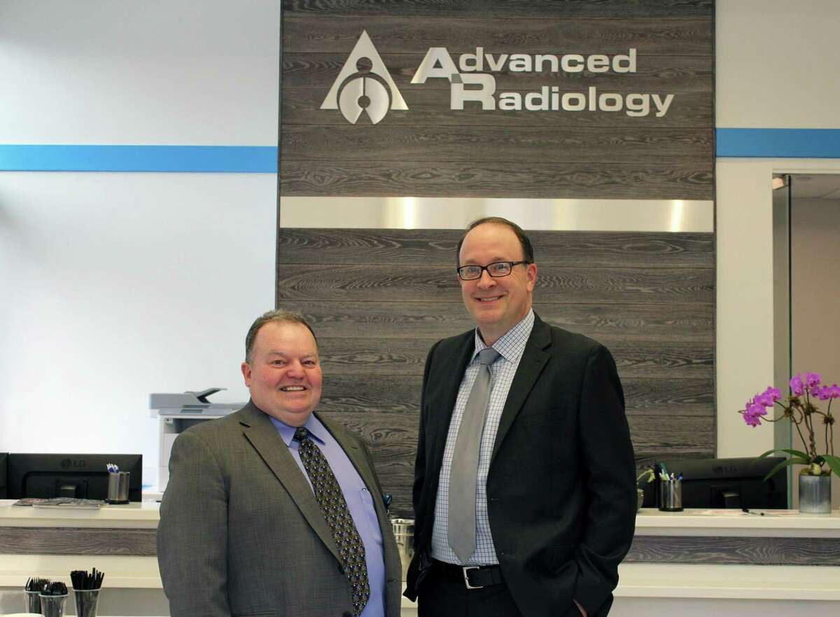 Advanced Radiology Chief Operating Officer Dennis Condon and Chief Executive Officer Clark Yoder inside the new Wilton location at 30 Danbury Road.