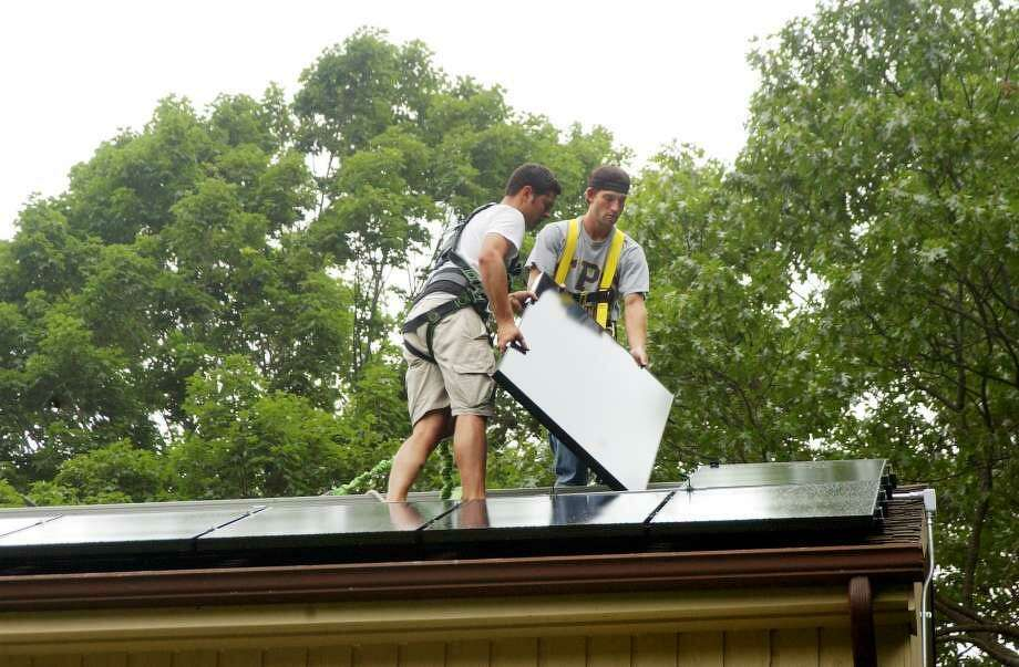 The Wilton Energy Commission has recommended that the town hire Middletown-based Greenskies Renewable Energies to install solar panels at Middlebrook and Miller-Driscoll schools. Photo: Dru Nadler / Hearst Connecticut Media File
