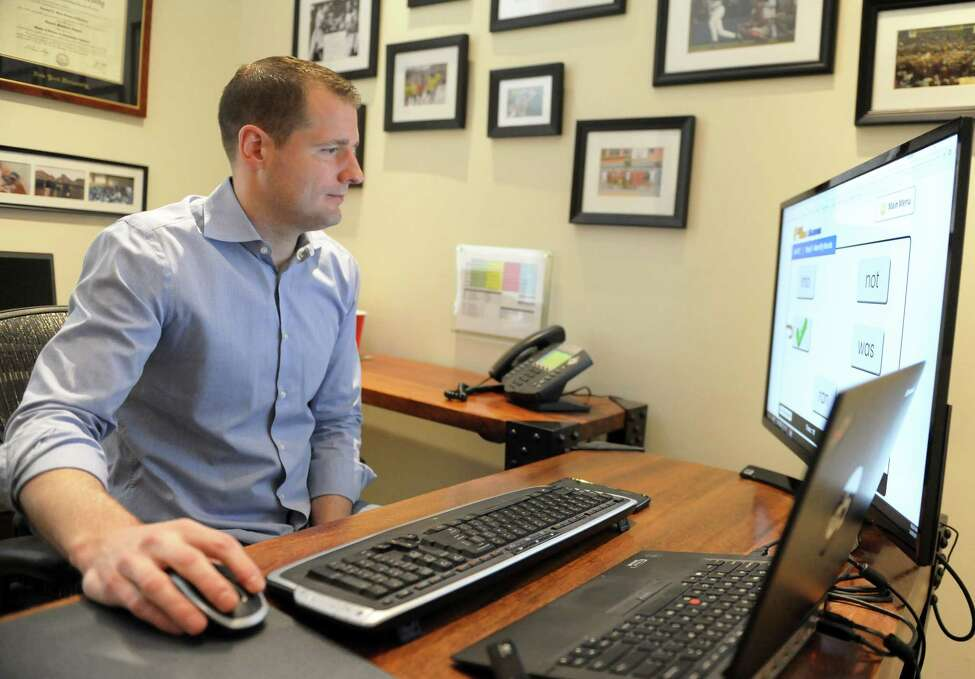 Jahnel Group founder and president Darrin Jahnel works at his company's main office in Schenectady, N.Y. Monday, March 20, 2017. (Robert Downen/Times Union)