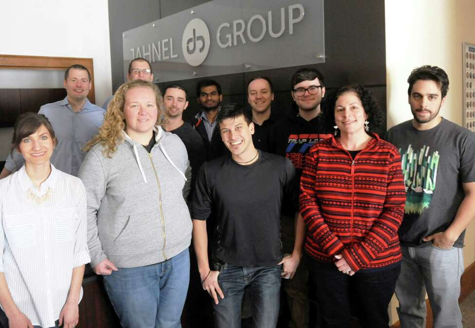 Employees of software development and consulting company Jahnel Group in Schenectady, N.Y. (Robert Downen/Times Union)