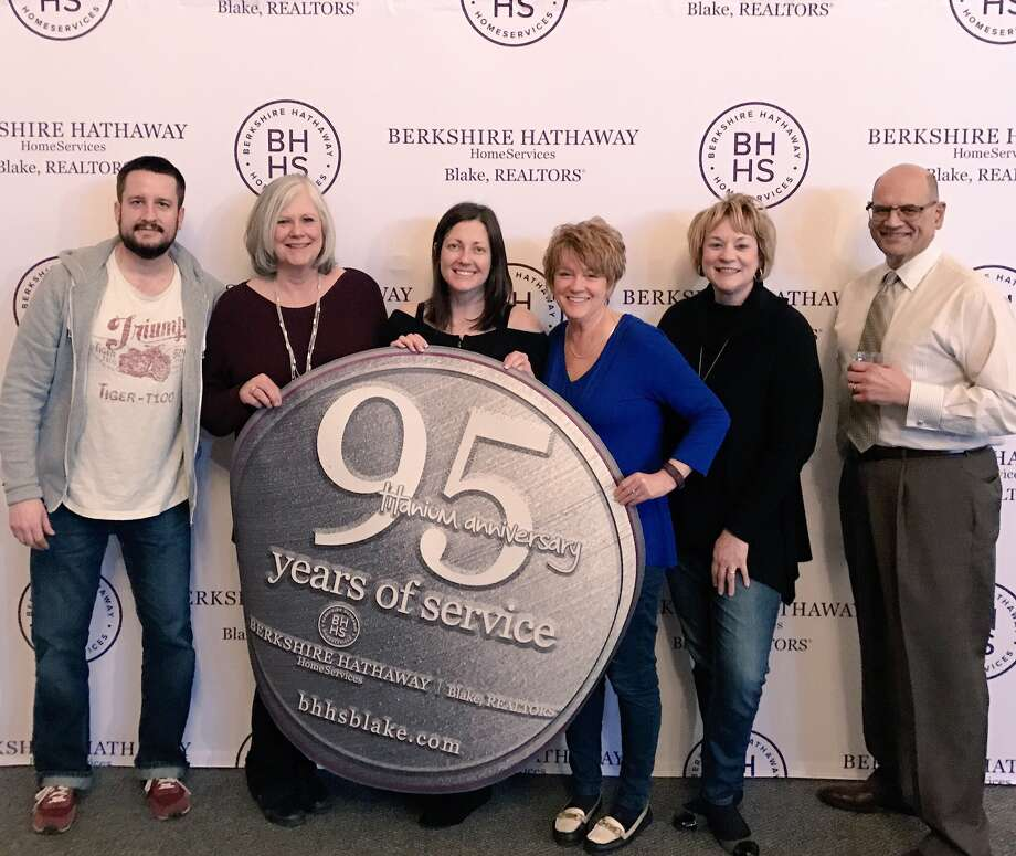 Berkshire Hathaway Home Services, Blake, celebrates 95 years in business in 2017. Left to right: Jay Christiana, Sharon Visconte, Nellie Seguin, Stephanie Cuva, Jil Denn and Richard Ferro. (Provided)