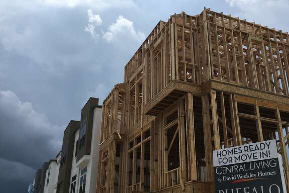 Central Living urban style houses are being built by David Weekley Homes in Buffalo Manor near Reliant Park in 2016.