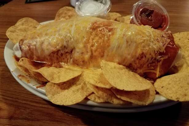 Photo by Matthew Woods The wet burrito at the Auburn Hotel, 101 W. Midland Road in Auburn.