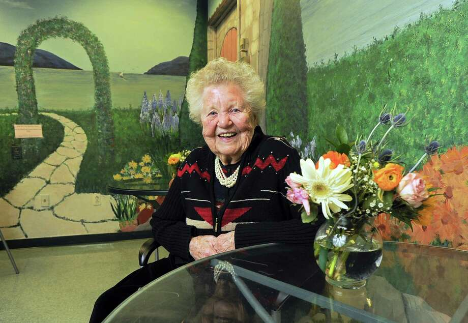 Lois PontBriant sits for a photograph on March 28, 2017 at the Stamford Senior Center. PontBriant, who retired from public service in 1999, was the City of Stamford first female town clerk. Photo: Matthew Brown / Hearst Connecticut Media / Stamford Advocate