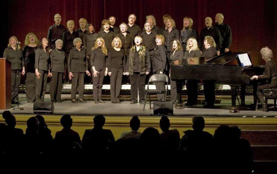 Members of the Ridgefield Chorale perform at the Martin Luther King Day celebration in the Ridgefield Playhouse. Monday, Jan. 20, 2014 Photo: Scott Mullin / Scott Mullin / The News-Times Freelance