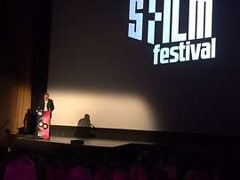 Noah Cowan greeting crowd at Castro for SFFILM festival opening