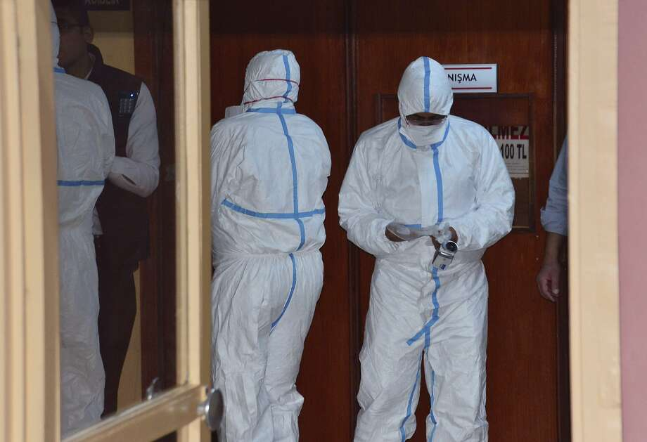World Health Organization experts took part in autopsies conducted on Syrian victims of a chemical weapons attack in Idlib province brought to a hospital in Adana, Turkey. Photo: Associated Press