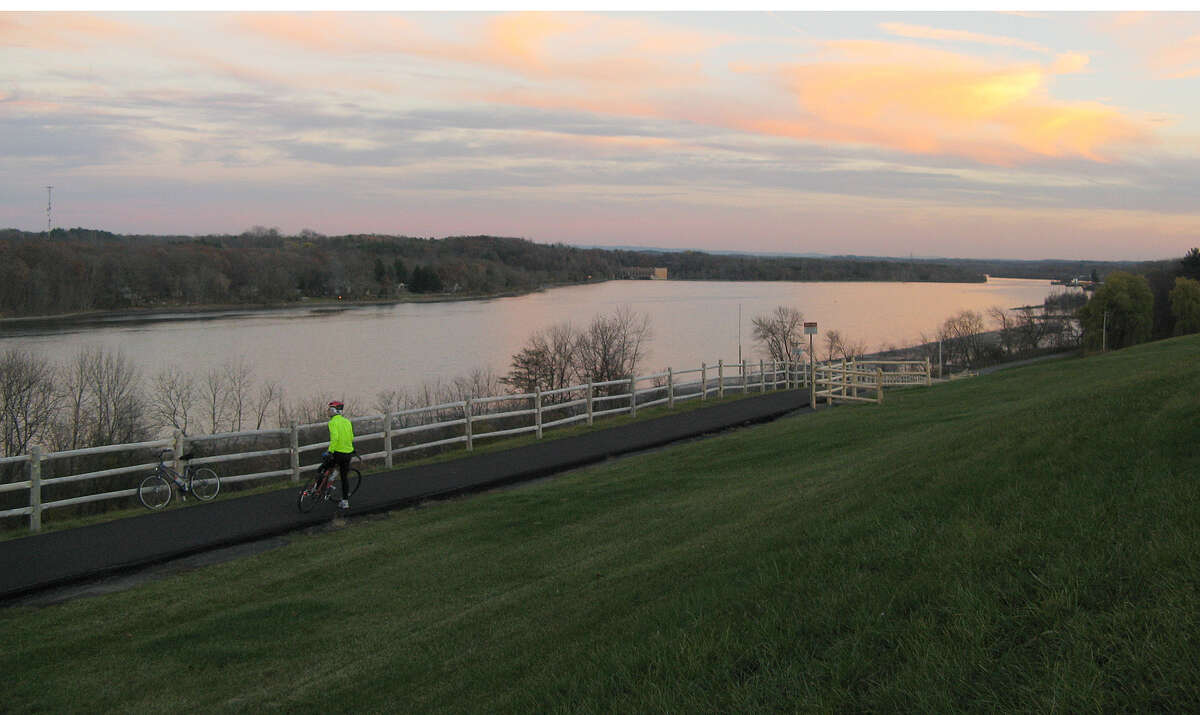 Near sunset on the Mohawk Hudson Bike Hike Trail. (Gillian Scott / Special to the Times Union)