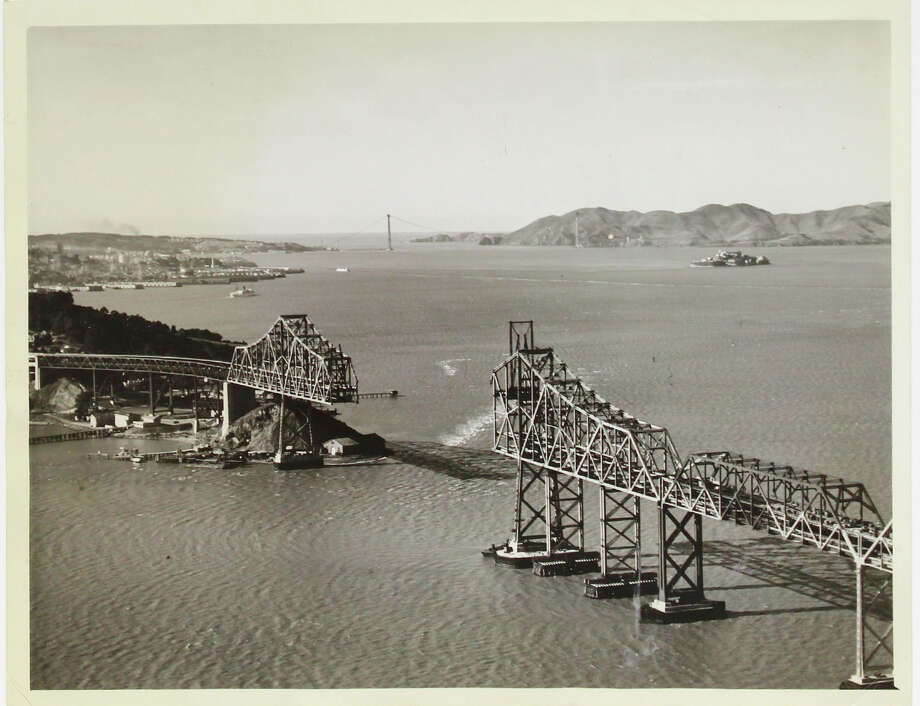 Approximately 85 photographs of the Bay Bridge under construction will be sold at auction on April 20 by Swann Auction Galleries. Photo: Courtesy Of Swann Auction Galleries
