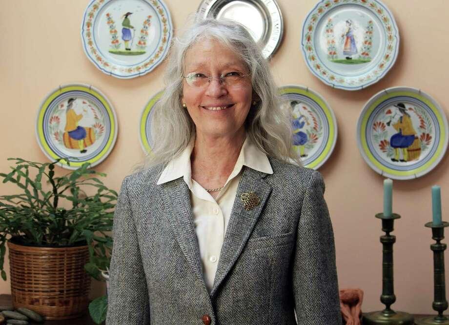 Former Fairfield teacher Marie Hayes in her Fairfield home on Wednesday. Photo: Laura Weiss / Hearst Connecticut Media / Fairfield Citizen
