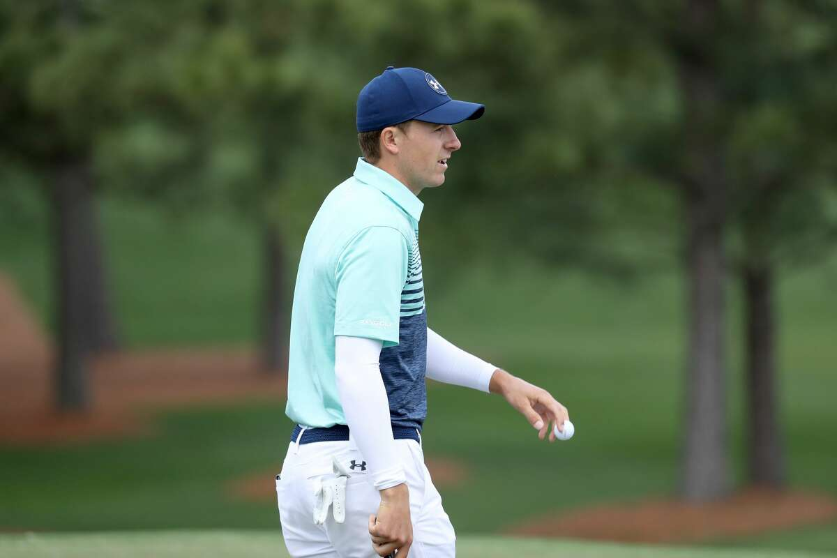 AUGUSTA, GA - APRIL 06: Jordan Spieth of the United States walks across the seventh green during the first round of the 2017 Masters Tournament at Augusta National Golf Club on April 6, 2017 in Augusta, Georgia. (Photo by Rob Carr/Getty Images)