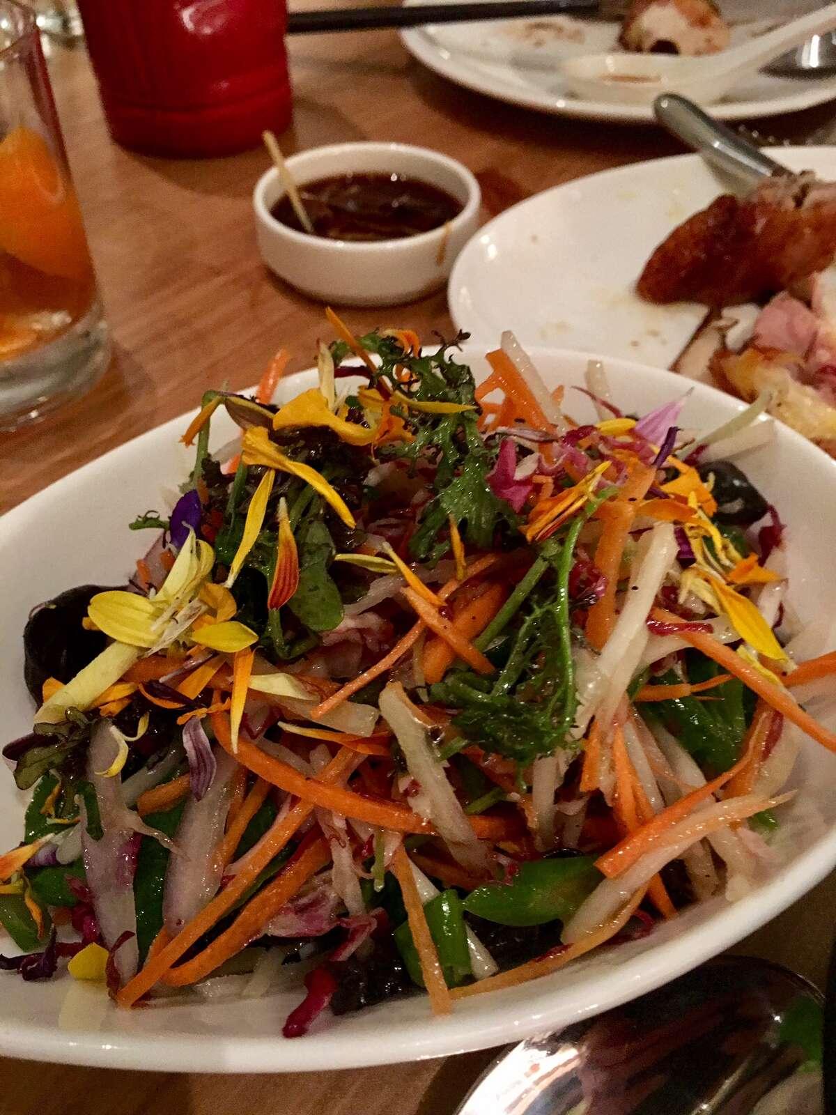 China Live: Chrysanthemum 10 ingredient salad