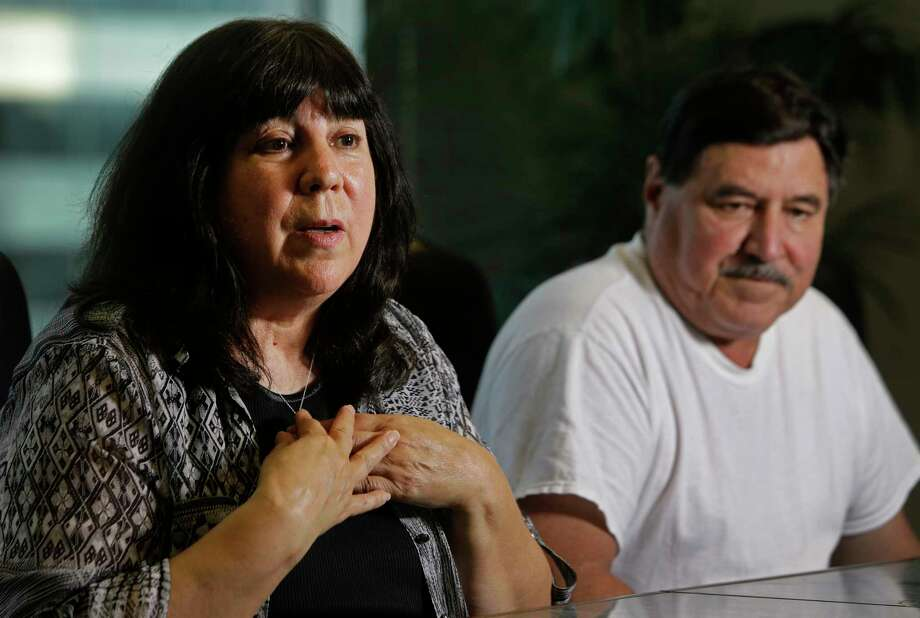 Cris Chapa, left, and her brother, Jesse Chapa, speak at the law office of Jack McGehee in Houston. They're suing Kindred Hospital Sugar Land after learning, two years later, about a medical procedure leading up to her death. Photo: Melissa Phillip, Houston Chronicle / © 2017 Houston Chronicle
