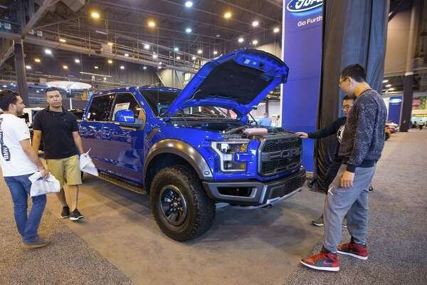 A Ford F150 Raptor at the Houston Auto Show at NRG Center, Thursday, April 6, 2017, in Houston.
