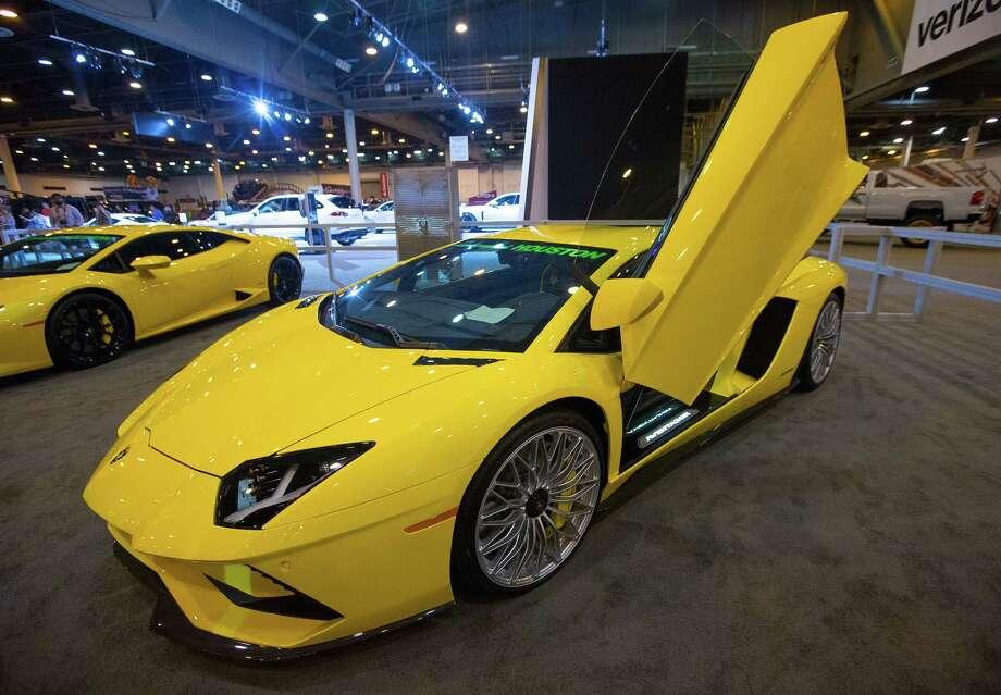 A Lamborghini at the Houston Auto Show at NRG Center, Thursday, April 6, 2017, in Houston. Photo: Mark Mulligan, Mark Mulligan / Houston Chronicle / 2017 Mark Mulligan / Houston Chronicle