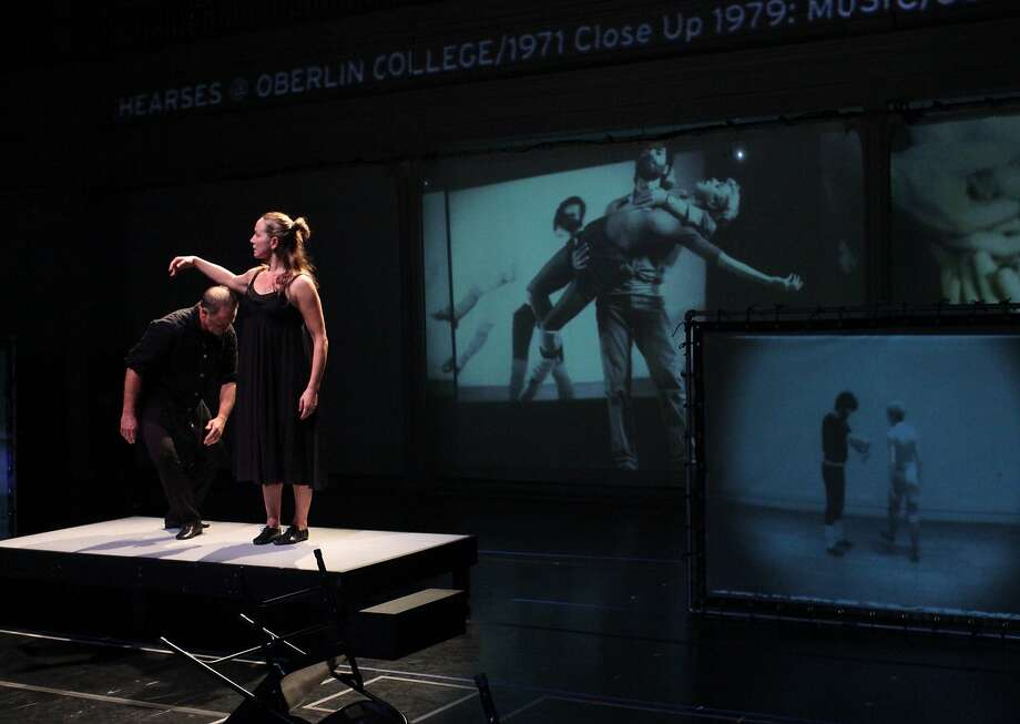 "Scott Cunningham and Karen Graham in ""Live Archiveography."" Photo: Paula Court"