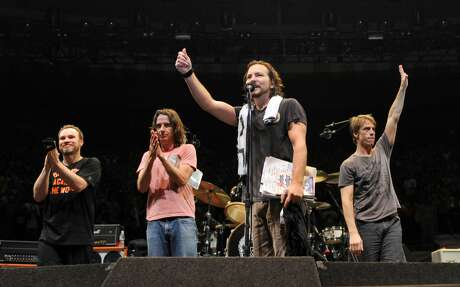 Pearl Jam is playing the first show in Seattle in five years -- in fact, they're playing two shows -- and they're using it to put their money where their mouth is. Photo: Kevin Mazur/WireImage