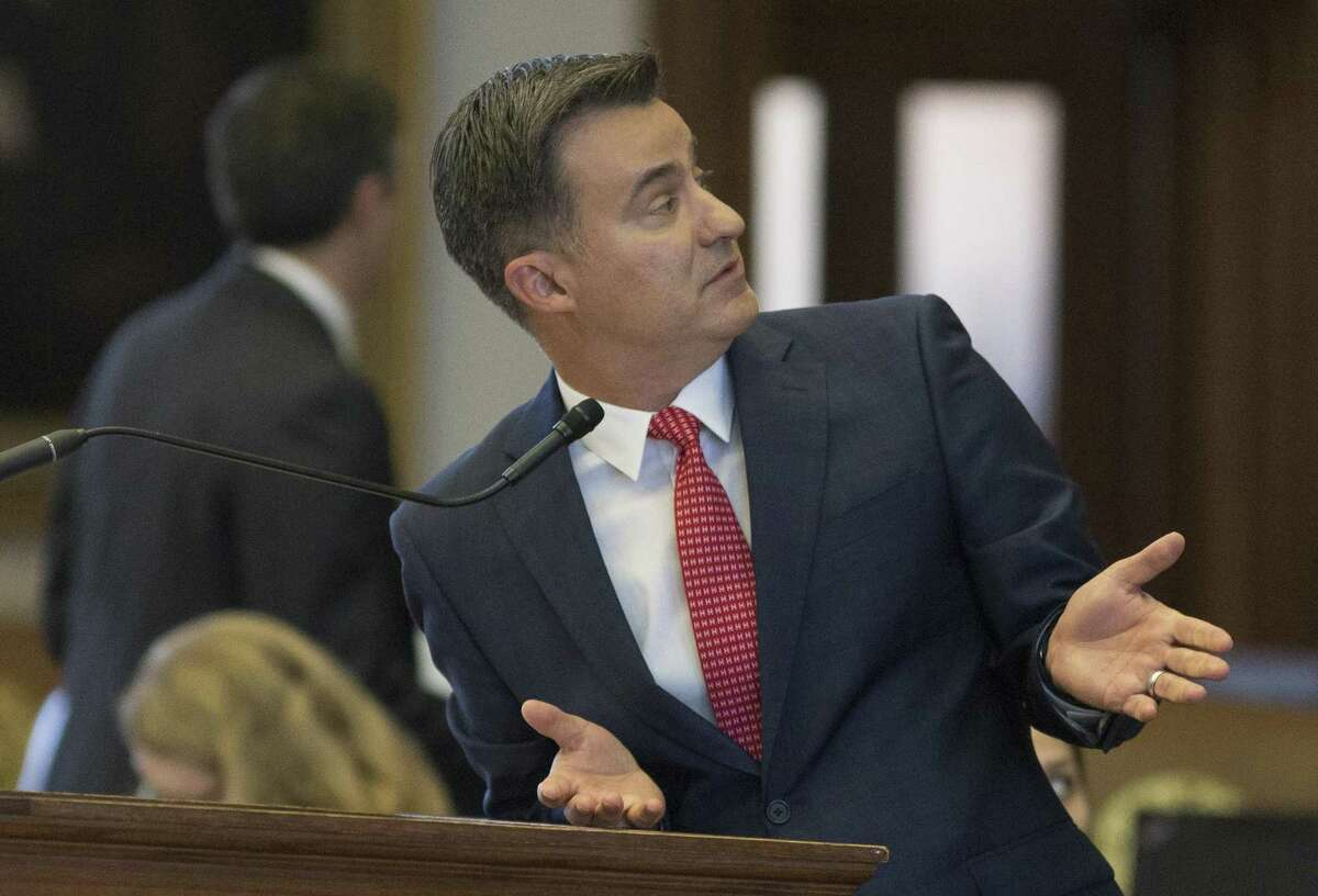 State Rep. Roland Gutierrez, D- San Antonio, speaks on the House floor in April. Gutierrez is the author of a controversial amendment to protect military bases that was included in a bill that would implement sweeping changes in annexation law.