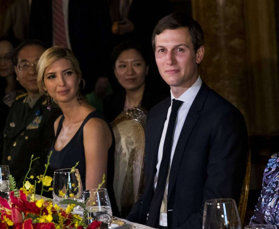 Among the shifting cast of characters at the White House, presidential son-in-law Jared Kushner is now the go-to guy on many matters foreign and domestic, with his wife, Ivanka Trump, right beside him. Photo: DOUG MILLS, NYT