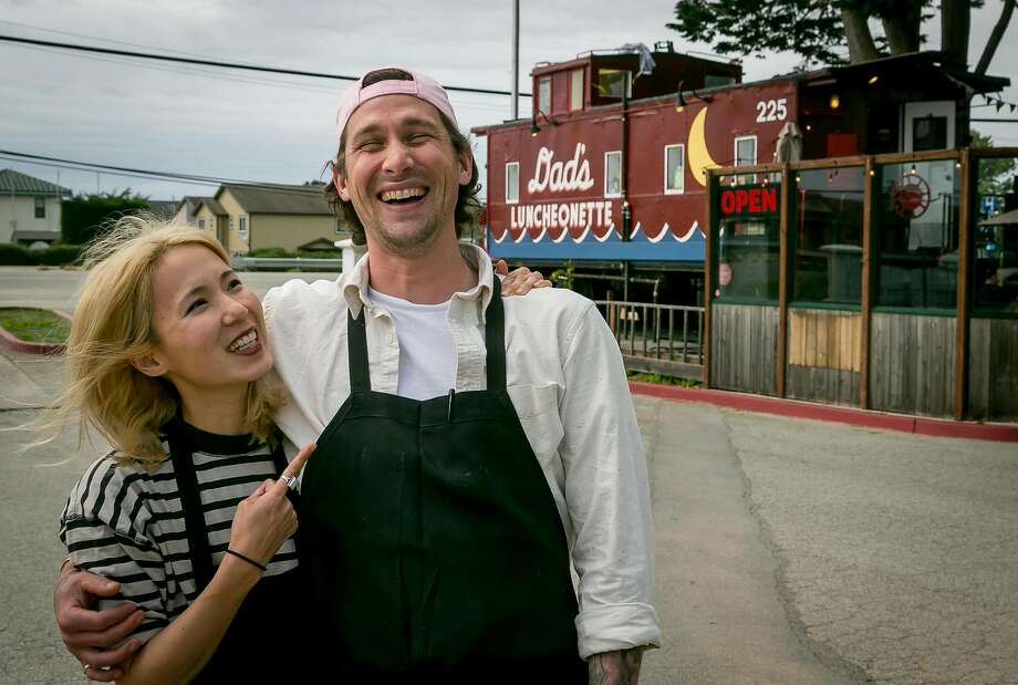 Chef Scott Clark with his wife, Alexis Liu, at Dad's Luncheonette in Half Moon Bay. Photo: John Storey, Special To The Chronicle