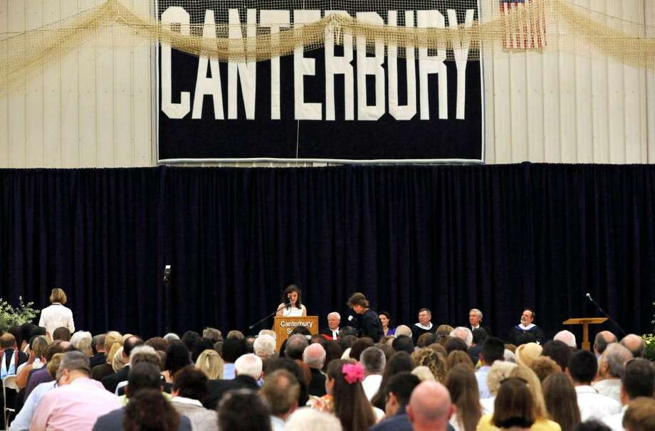 Graduation exercises at Canterbury School in New Milford on Tuesday, June 1, 2010. Photo: Michael Duffy / The News-Times